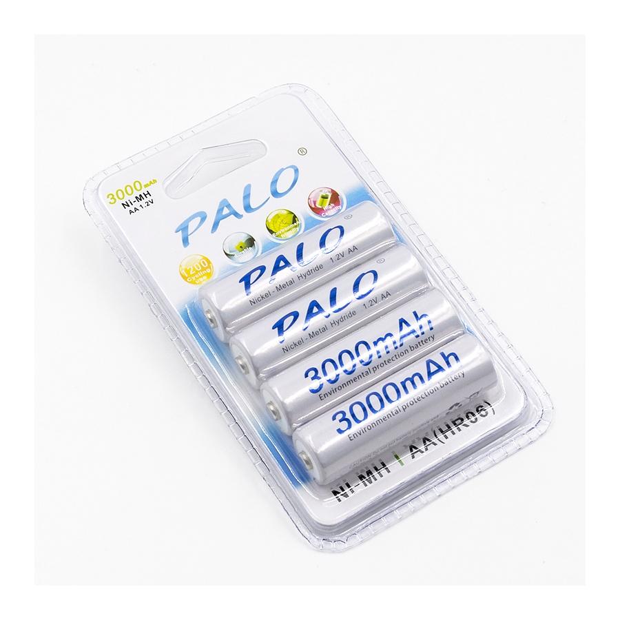 AA įkraunamos baterijos PALO 3000mAh, Ni-Mh, 2200mAh, 1.2V, 4 vnt.