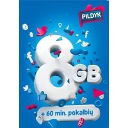 Pildyk 8 GB + 60 min. PAKUOTĖ